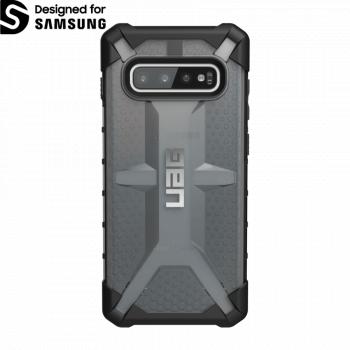 Чехол Urban Armor Gear Plasma Ash для Samsung Galaxy S10 Plus черный прозрачный