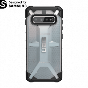 Чехол Urban Armor Gear Plasma Ice для Samsung Galaxy S10 Plus серый прозрачный