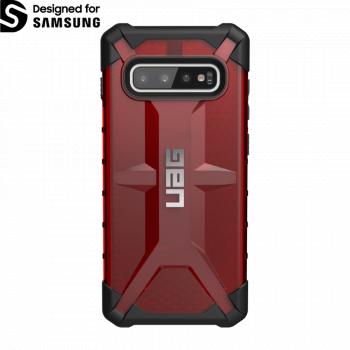 Чехол Urban Armor Gear Plasma Magma для Samsung Galaxy S10 Plus красный прозрачный