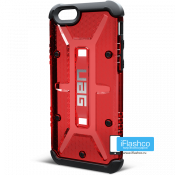 Чехол Urban Armor Gear Magma для iPhone 6 / 6s красный прозрачный