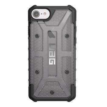 Чехол Urban Armor Gear Plasma Ash для iPhone 7/8/SE черный прозрачный