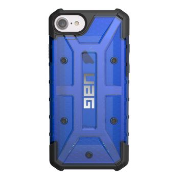 Чехол Urban Armor Gear Plasma Cobalt для iPhone 7/8/SE синий прозрачный
