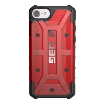 Чехол Urban Armor Gear Plasma Magma для iPhone 7/8/SE красный прозрачный
