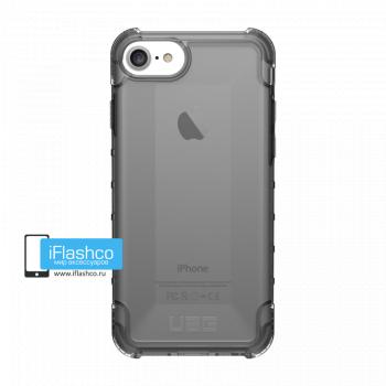 Чехол Urban Armor Gear Plyo Ash для iPhone 7 / 8 черный прозрачный