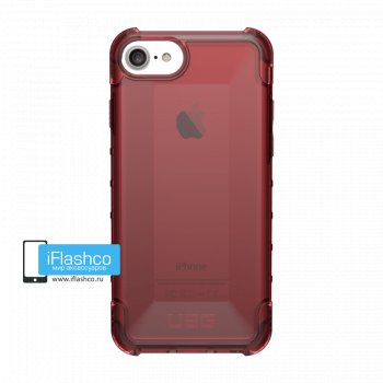 Чехол Urban Armor Gear Plyo Crimson для iPhone 7 / 8 красный прозрачный