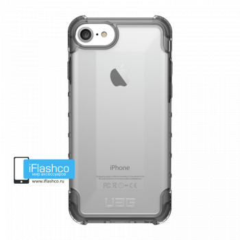 Чехол Urban Armor Gear Plyo Ice для iPhone 7 / 8 серый прозрачный