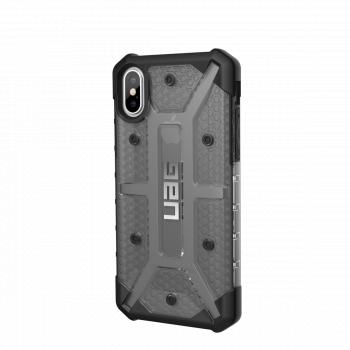 Чехол Urban Armor Gear Plasma Ash для iPhone X/XS черный прозрачный