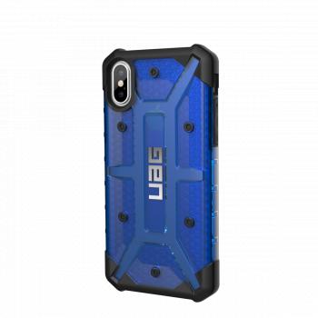 Чехол Urban Armor Gear Plasma Cobalt для iPhone X/XS синий прозрачный