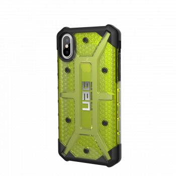 Чехол Urban Armor Gear Plasma Citron для iPhone X/Xs зеленый прозрачный