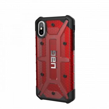 Чехол Urban Armor Gear Plasma Magma для iPhone X/XS красный прозрачный