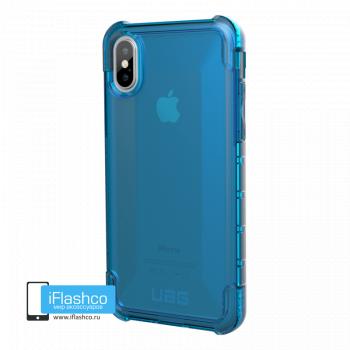 Чехол Urban Armor Gear Plyo Glacier для iPhone X/XS синий прозрачный