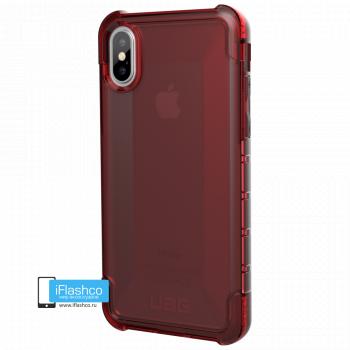 Чехол Urban Armor Gear Plyo Crimson для iPhone X/XS красный прозрачный