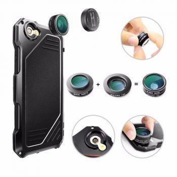 Противоударный чехол с линзами Uniya Lens Case для iPhone 7 Plus / 8 Plus черный