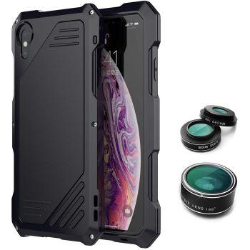 Противоударный чехол с линзами Uniya Lens Case для iPhone X / XS черный