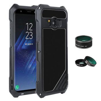 Противоударный чехол с линзами Uniya Lens Case для Samsung Galaxy S8 черный