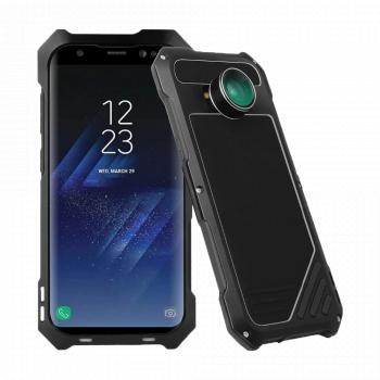 Противоударный чехол с линзами Uniya Lens Case для Samsung Galaxy S8+ черный