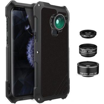 Противоударный чехол с линзами Uniya Lens Case для Samsung Galaxy S9+ черный