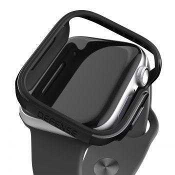 Защитный чехол-корпус X-Doria Defense Edge Black для Apple Watch Series SE / 6 / 5 / 4 (44 мм)