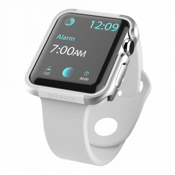 Защитный корпус X-Doria Defense Edge Silver для Apple Watch Series SE / 6 / 5 / 4 (44 мм)