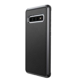 Чехол ударопрочный X-Doria Defense Lux Black Leather для Samsung Galaxy S10