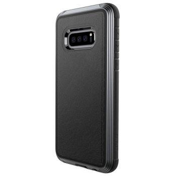 Чехол ударопрочный X-Doria Defense Lux Black Leather для Samsung Galaxy S10e