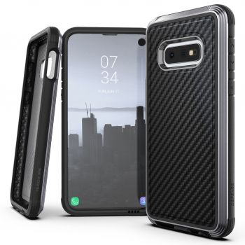 Чехол ударопрочный X-Doria Defense Lux Black Carbon Fiber для Samsung Galaxy S10e