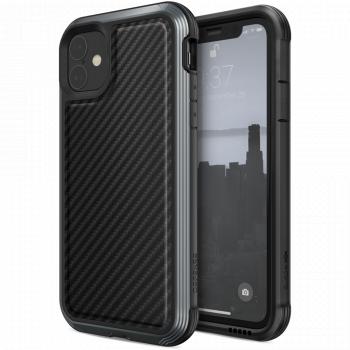 Чехол ударопрочный X-Doria (Raptic) Lux Black Carbon Fiber для iPhone 11