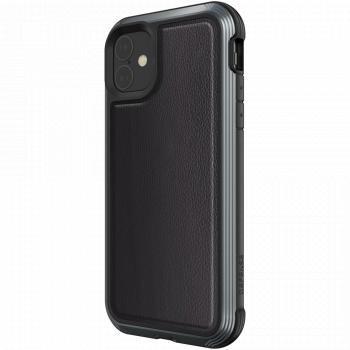 Чехол ударопрочный X-Doria (Raptic) Lux Black Leather для iPhone 11