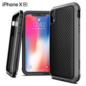 Чехол ударопрочный X-Doria Defense Lux Black Carbon Fiber для iPhone XR