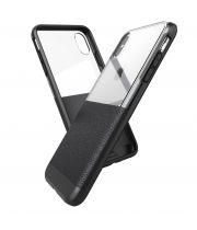 Чехол ударопрочный X-Doria Case Dash Black Leather для iPhone X/XS