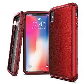 Чехол ударопрочный X-Doria Defense Lux Red для iPhone XS Max