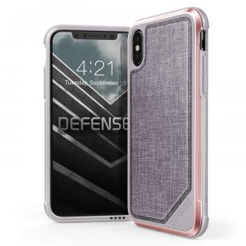 Чехол ударопрочный X-Doria Defense Lux Pink Nylon для iPhone X/XS
