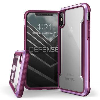 Чехол ударопрочный X-Doria Defense Shield Purple для iPhone X/XS