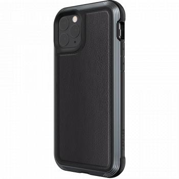 Чехол ударопрочный X-Doria (Raptic) Lux Black Leather для iPhone 11 Pro